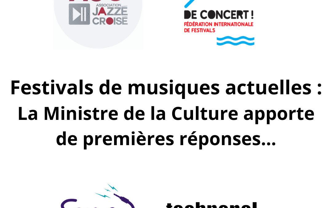 COMMUNIQUÉ – FESTIVALS DE MUSIQUES ACTUELLES – ÉTÉ 2021